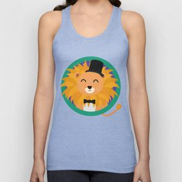 Lion groom with cylinder T-Shirt D2dqz Unisex Tank Top
