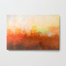 Boise, Idaho Skyline - In the Clouds Metal Print