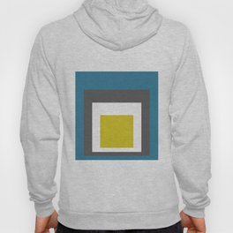 Block Colors - Teal Grey Acid Yellow Hoody