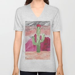 Stab Cactus or m7a Unisex V-Neck