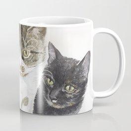Two cats - tabby and tortie Coffee Mug