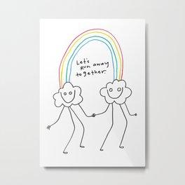 Runaway Rainbow Metal Print