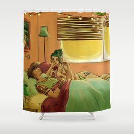 Wake me up Shower Curtain