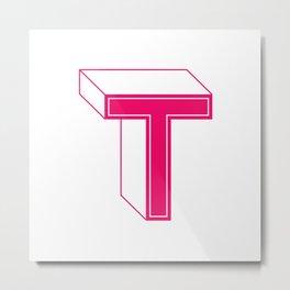 Letter T Metal Print
