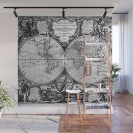Vintage Old Map Design Wall Mural