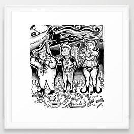 Warblers Framed Art Print