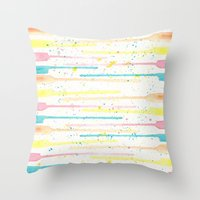 confetti Throw Pillows featuring Confetti by Tammy Kushnir