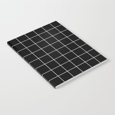 Black White Grid Notebook