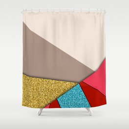 Geometrical Minimal Art 11 #illustration Shower Curtain