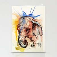africa Stationery Cards featuring Africa by Abigail Leigh