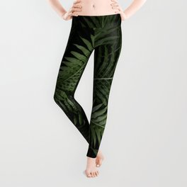 Tropical leaves 02 Leggings