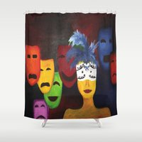 faces Shower Curtains featuring faces by Shahadjef