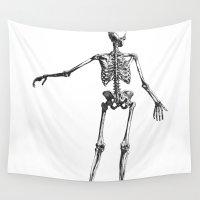 skeleton Wall Tapestries featuring Skeleton by jane.y