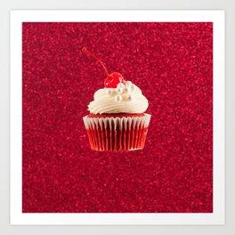 Cupcake Love | The Sparkliest Red Velvet Art Print