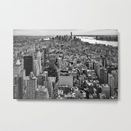 New York City black & white Metal Print