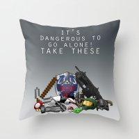 gamer Throw Pillows featuring Gamer  by Ioana Muresan