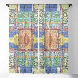 HydroCarbon Mosaic Sheer Curtain
