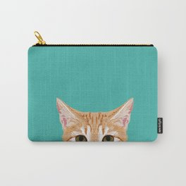 Tabby orange cat head cat breed gifts cute tabby cats must haves Carry-All Pouch