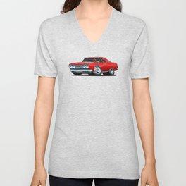 Classic Muscle Car Cartoon Unisex V-Neck