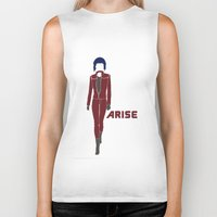 ghost in the shell Biker Tanks featuring Ghost in the Shell Arise by Krbshadow