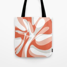 Coral Wave Tote Bag