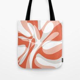 Coral Wave Tote Bag