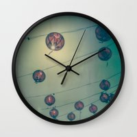 lanterns Wall Clocks featuring Lanterns by Leandro