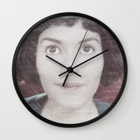 amelie Wall Clocks featuring Amelie by EclipseLio