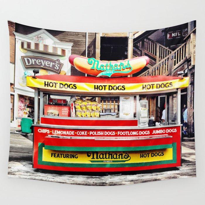Hot Dog Wall Tapestry