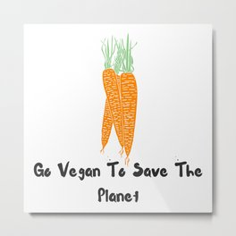 Vegan world Metal Print