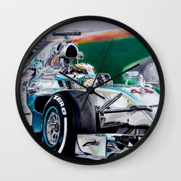 "Lewis Hamilton ""Focus On Lewis"" Wall Clock"