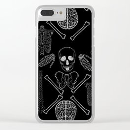 band of skulls - negative Clear iPhone Case