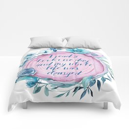 I read a book one day tree rings design Comforters