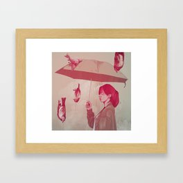 the extinction Framed Art Print