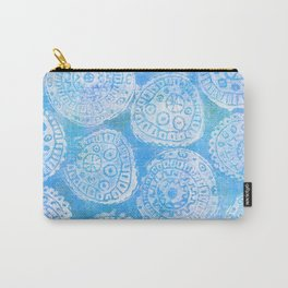 Gelatin Monoprint 22 Carry-All Pouch