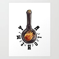 alchemy Art Prints featuring Alchemy by The Coffee Is Black