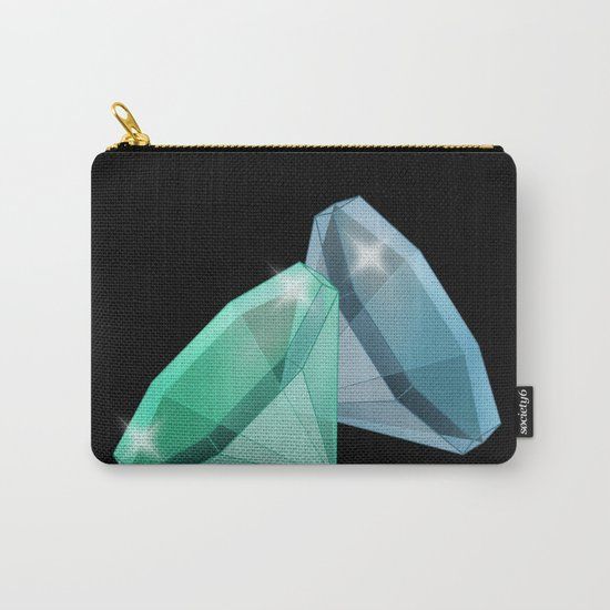 Precious blue and green stones . Carry-All Pouch