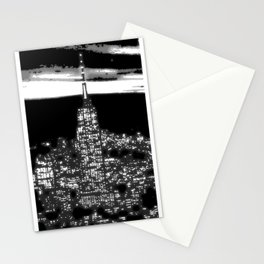 1930 New York City by night Stationery Cards
