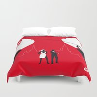 russia Duvet Covers featuring From Russia With Love by Alain Bossuyt