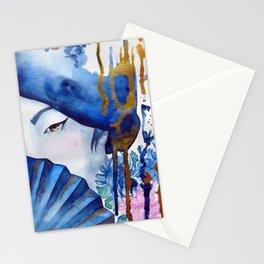 blue geisha Stationery Cards