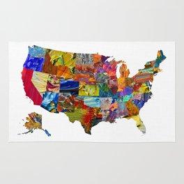 USA Map Rug