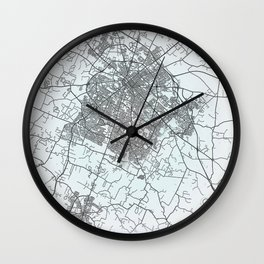 Lexington, KY, USA, White, City, Map Wall Clock