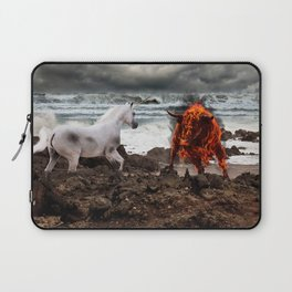 The Unicorn vs the Fire Bull Laptop Sleeve
