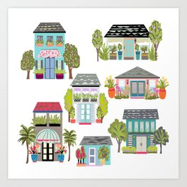 Houses and Boutiques Art Print