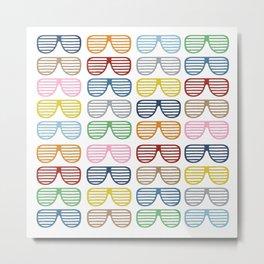 Rainbow Shutter Shades Metal Print
