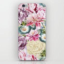 Vintage & Shabby chic -  Retro Spring Flower Pattern iPhone Skin