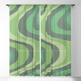 70's Green Vibe Sheer Curtain
