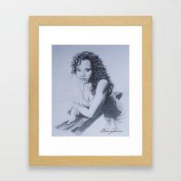 Sanaa Lathan Framed Art Print