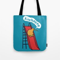 kiwi Tote Bags featuring Kiwi by Picomodi