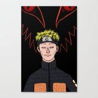 naruto Canvas Prints featuring Naruto by nu boniglio